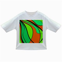 Green And Orange Infant/toddler T Shirts by Valentinaart