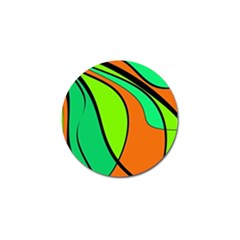 Green And Orange Golf Ball Marker (4 Pack) by Valentinaart