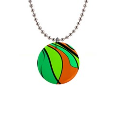 Green And Orange Button Necklaces by Valentinaart