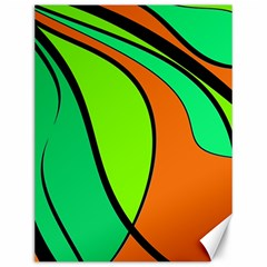 Green And Orange Canvas 12  X 16   by Valentinaart
