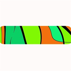Green And Orange Large Bar Mats by Valentinaart