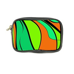 Green And Orange Coin Purse by Valentinaart