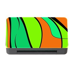 Green And Orange Memory Card Reader With Cf by Valentinaart