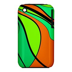 Green And Orange Apple Iphone 3g/3gs Hardshell Case (pc+silicone) by Valentinaart