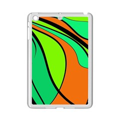 Green And Orange Ipad Mini 2 Enamel Coated Cases by Valentinaart