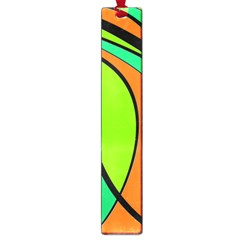 Green And Orange Large Book Marks by Valentinaart