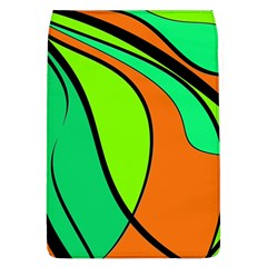 Green And Orange Flap Covers (l)  by Valentinaart