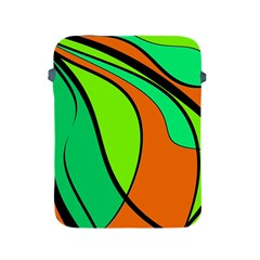 Green And Orange Apple Ipad 2/3/4 Protective Soft Cases by Valentinaart