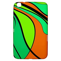 Green And Orange Samsung Galaxy Tab 3 (8 ) T3100 Hardshell Case  by Valentinaart