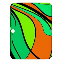 Green And Orange Samsung Galaxy Tab 3 (10 1 ) P5200 Hardshell Case  by Valentinaart