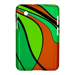Green And Orange Samsung Galaxy Tab 2 (7 ) P3100 Hardshell Case  by Valentinaart