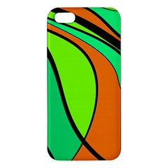 Green And Orange Iphone 5s/ Se Premium Hardshell Case by Valentinaart
