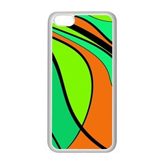 Green And Orange Apple Iphone 5c Seamless Case (white) by Valentinaart