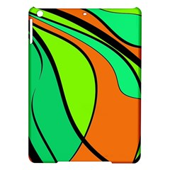 Green And Orange Ipad Air Hardshell Cases by Valentinaart