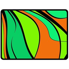 Green And Orange Double Sided Fleece Blanket (large)  by Valentinaart