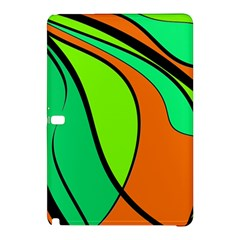 Green And Orange Samsung Galaxy Tab Pro 10 1 Hardshell Case by Valentinaart