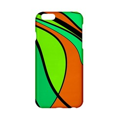 Green And Orange Apple Iphone 6/6s Hardshell Case by Valentinaart