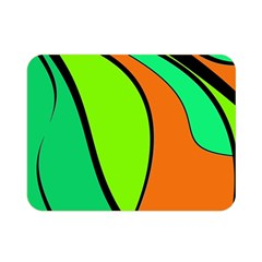 Green And Orange Double Sided Flano Blanket (mini)  by Valentinaart