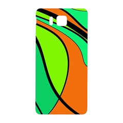 Green And Orange Samsung Galaxy Alpha Hardshell Back Case by Valentinaart