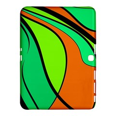 Green And Orange Samsung Galaxy Tab 4 (10 1 ) Hardshell Case  by Valentinaart