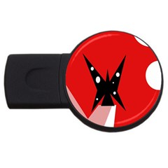 Black Butterfly  Usb Flash Drive Round (2 Gb)  by Valentinaart