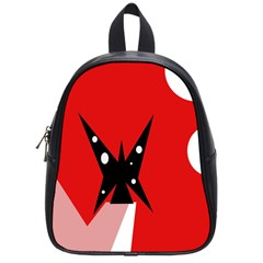 Black Butterfly  School Bags (small)  by Valentinaart