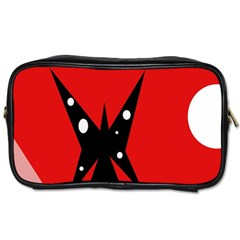 Black Butterfly  Toiletries Bags by Valentinaart