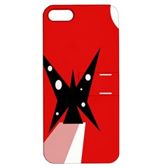 Black Butterfly  Apple Iphone 5 Hardshell Case With Stand by Valentinaart