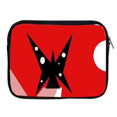 Black Butterfly  Apple Ipad 2/3/4 Zipper Cases by Valentinaart