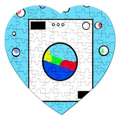Washing Machine  Jigsaw Puzzle (heart) by Valentinaart