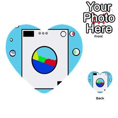 Washing Machine  Multi Purpose Cards (heart)  by Valentinaart