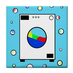 Washing Machine  Face Towel by Valentinaart