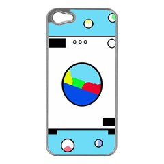 Washing Machine  Apple Iphone 5 Case (silver) by Valentinaart