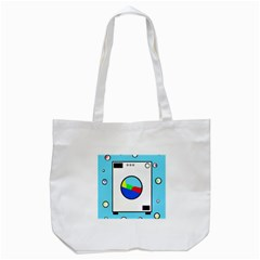 Washing Machine  Tote Bag (white) by Valentinaart