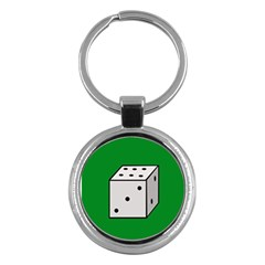 Dice  Key Chains (round)  by Valentinaart