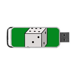 Dice  Portable Usb Flash (one Side) by Valentinaart