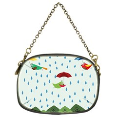 Birds In The Rain Chain Purses (one Side)  by justynapszczolka