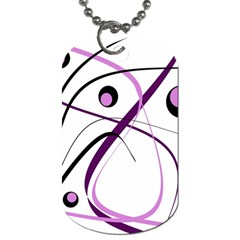 Pink Elegant Design Dog Tag (two Sides) by Valentinaart