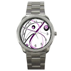 Pink Elegant Design Sport Metal Watch by Valentinaart