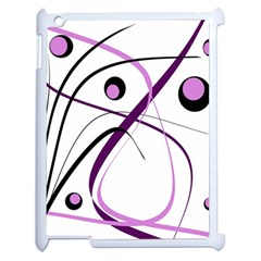Pink Elegant Design Apple Ipad 2 Case (white) by Valentinaart