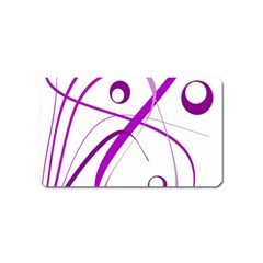 Purple Elegant Design Magnet (name Card) by Valentinaart