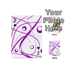 Purple Elegant Design Playing Cards 54 (mini)  by Valentinaart