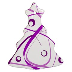 Purple Elegant Design Christmas Tree Ornament (2 Sides) by Valentinaart