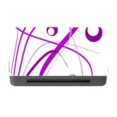 Purple Elegant Design Memory Card Reader With Cf by Valentinaart