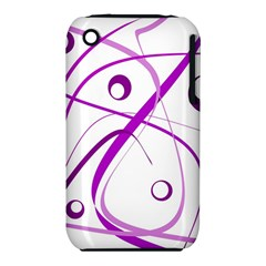 Purple Elegant Design Apple Iphone 3g/3gs Hardshell Case (pc+silicone) by Valentinaart