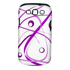 Purple Elegant Design Samsung Galaxy S Iii Classic Hardshell Case (pc+silicone) by Valentinaart