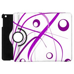 Purple Elegant Design Apple Ipad Mini Flip 360 Case by Valentinaart