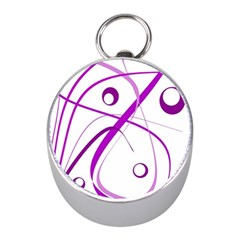 Purple Elegant Design Mini Silver Compasses by Valentinaart
