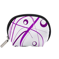 Purple Elegant Design Accessory Pouches (small)  by Valentinaart
