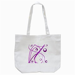 Purple Elegant Design Tote Bag (white) by Valentinaart